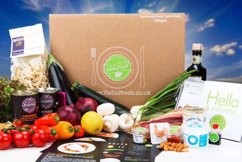 From £18 (from Hello Fresh) for a 'veggie' box of home-delivered recipes with fresh ingredients for two people, from £19.50 for a 'classic' box - save up to 50%