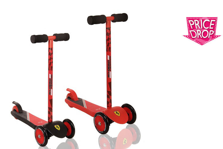 Official Ferrari® 3-Wheeled Scooter - 2 Colours!