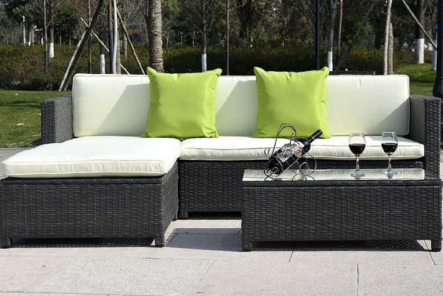 5pc rattan garden furniture set 3 colours