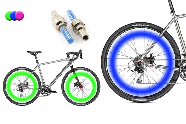 2 LED Bicycle Wheel Lights - 3 Colours!