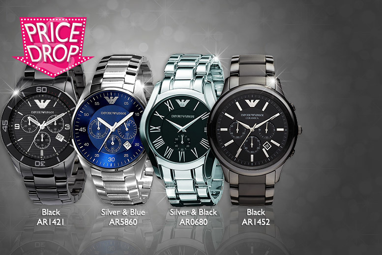 From £149 instead of £349 (from Gray's Kingdom) for a men's Emporio Armani watch - choose from four designs and save up to 57%