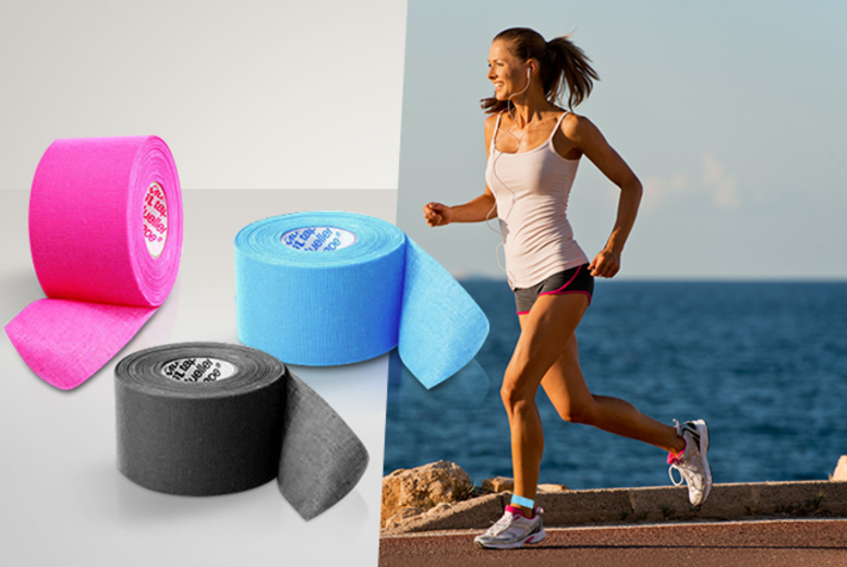 £5.99 instead of £15.99 (from Aneeks) for a five-metre roll of kinesiology athletic tape - choose black, pink or blue and save 63%