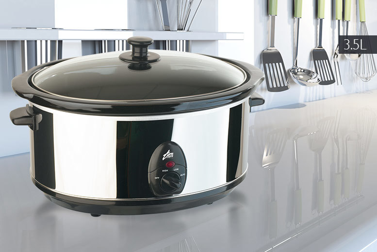Image of £14.99 for a 3.5-litre slow cooker, £22.99 for 6.5 litres - save up to 50%
