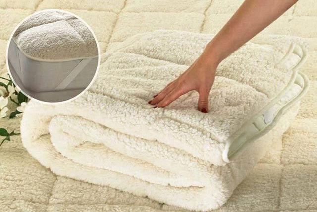 reversible teddy fleece mattress topper