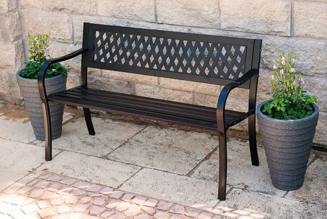 Wooden Or Metal Garden Bench   3 Styles!