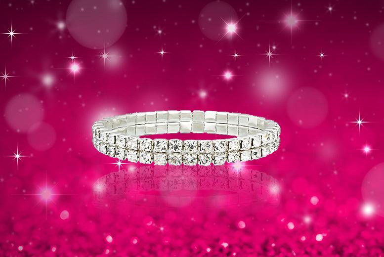 2-Row Crystal Tennis Bracelet