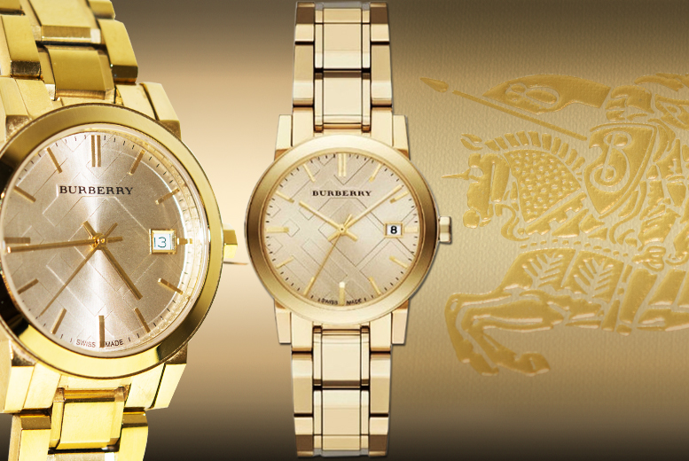 £179 instead of up to £445.01 for a ladies' Burberry watch - choose from three colours and save up to 64%
