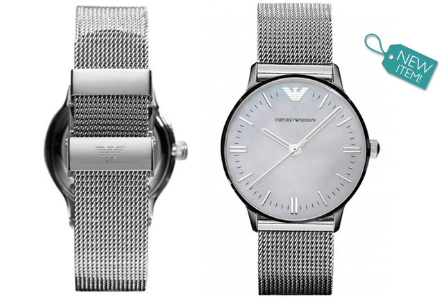 Ladies Emporio Armani AR1631 Silver Mesh Watch
