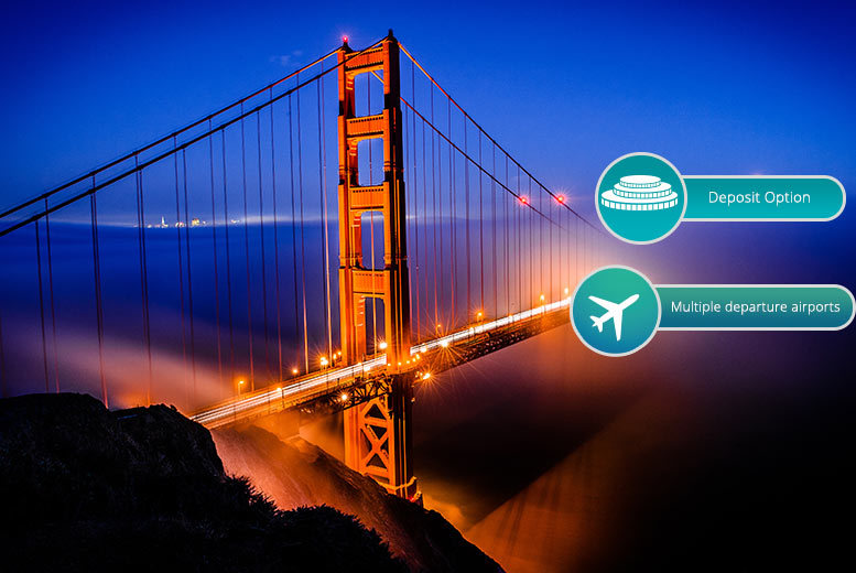 8nt New York, Vegas and San Francisco with Flights