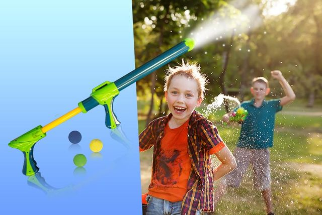 super launcher water guns with splash cannon ball