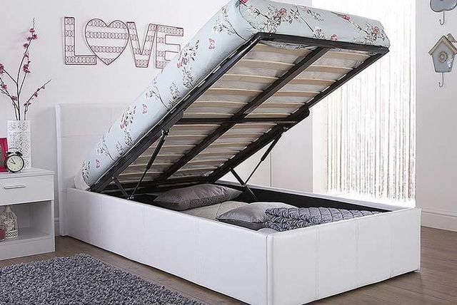 gas lift ottoman storage bed