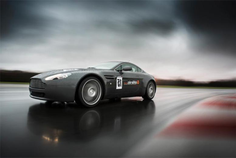 £69 instead of £139 for a 90-minute Aston Martin V8 Vantage supercar experience including 12 laps with Drift Limits - save 50%
