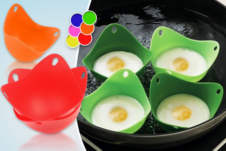 Image of £2.99 instead of £10 (from CK Collections) for two silicone egg poachers, or £4.99 for four - save up to 70%