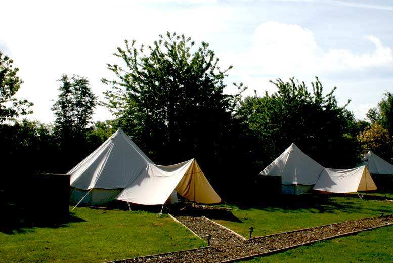 & 2nt Bell Tent Stay u0026 Spa Access for up to 4 @ Oaklodge Retreat