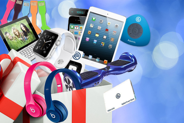 From £10 for a Mystery Electronics Deal - products include Apple Watch, Kindle, GoPro, Beats by Dre, iPad Mini, Apple TV, electronic scooter board and more!