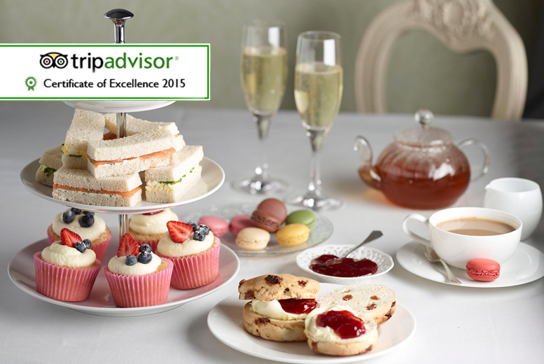 £16 instead of £33.90 for a Champagne afternoon tea for two including sandwiches, scones and more at 4* The Grange Manor - save 53%