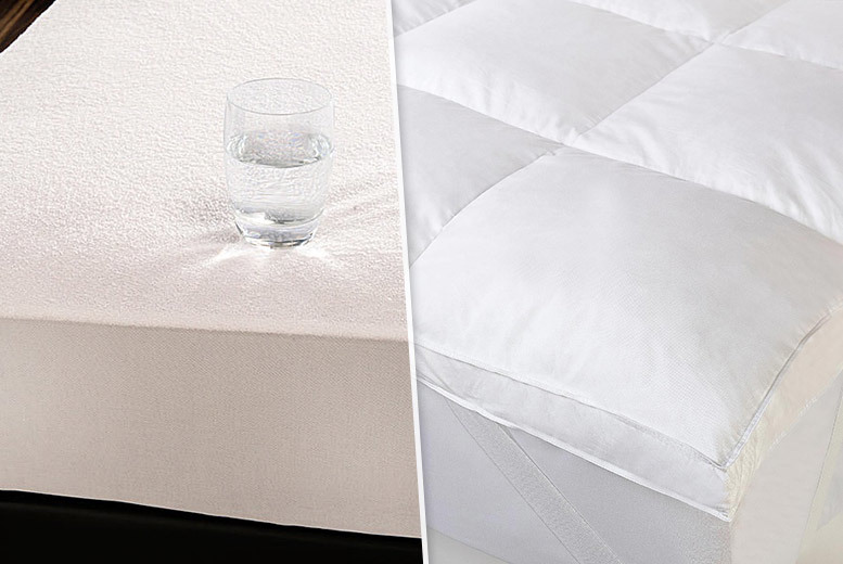 Luxury Duck Feather Mattress Topper or Mattress Protector