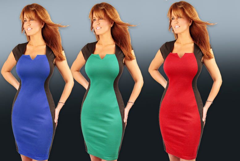 £12.99 instead of £39.99 (from Who Runs the World) for a green, red or blue hourglass illusion dress - save 68%
