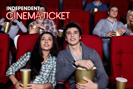 £2.99 instead of up to £7.90 for a cinema ticket to use at independent cinemas around Yorkshire – save up to 62%