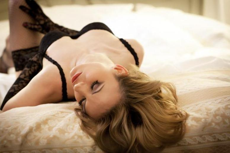£9 for a boudoir photoshoot including make-up and hair, mini-facial, two prints and a glass of bubbly at Revolve Studios - choose from two locations and save 94%