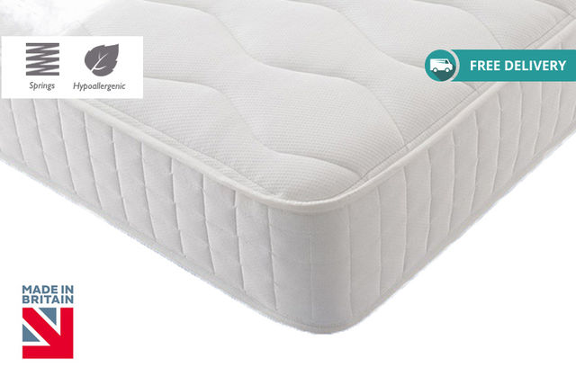 Hypoallergenic Quilted Bonnell Memory Spring Mattress