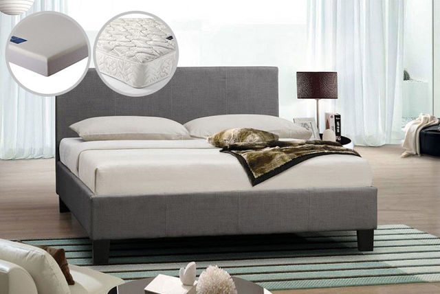 italian designer fabric bed