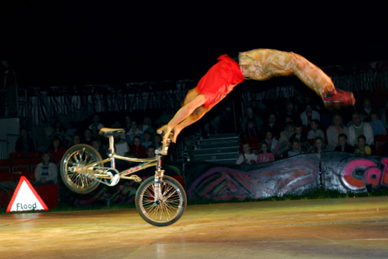 £9 for a front circle ticket, £16 for two tickets or £29 for a family ticket (two adults and two children) for Circus of the Streets, Clapham Common - save up to 50%
