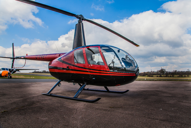 £99 instead of up to £198 for a romantic helicopter flying experience for two people including bubbly and chocolates with Flying Pig Helicopters - save up to 50%