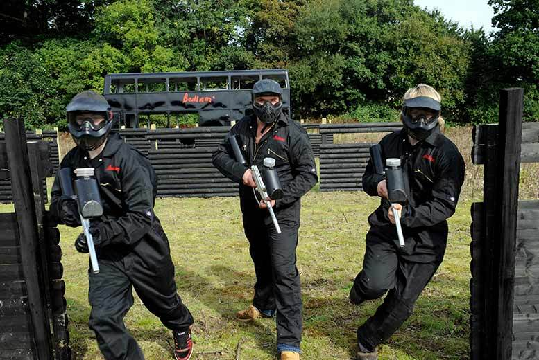 £5 for paintballing for up to five people, £10 for up to ten, £12 for up to 15 or £14 for up to 20 at Bedlam Paintball - choose from over 80 locations and save up to 95%