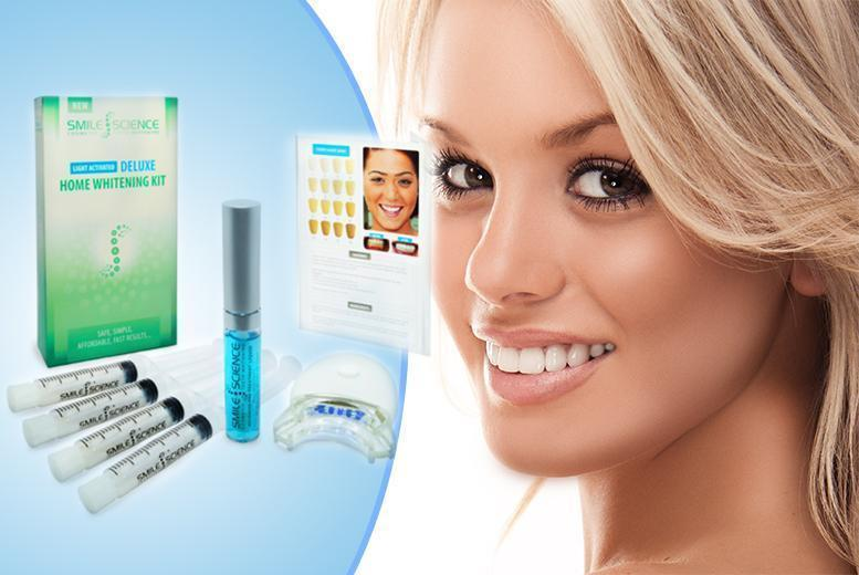 £18.98 instead of £129 (from Smile Science) for a deluxe home teeth whitening kit - smile wide and save 85%