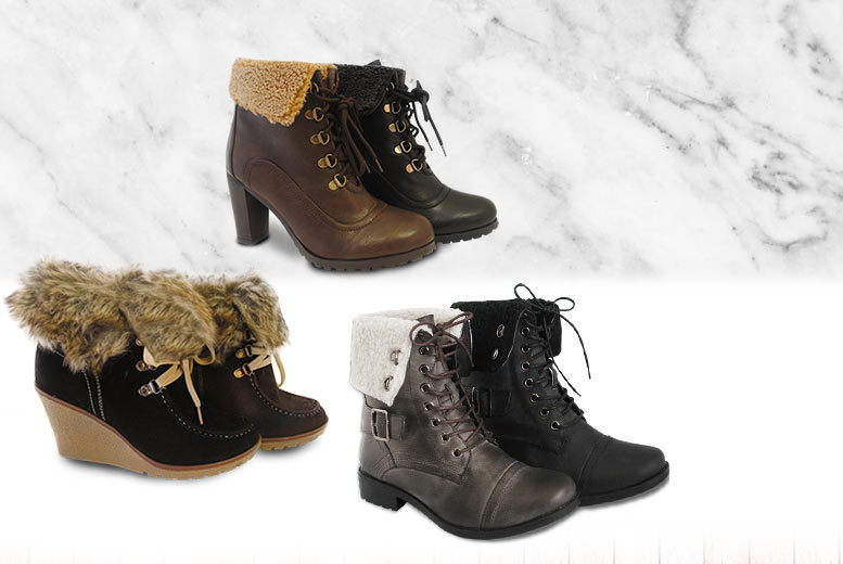 £12 instead of £40 (from Urshu) for a pair of ladies' winter boots - choose from three designs and save up to 70%