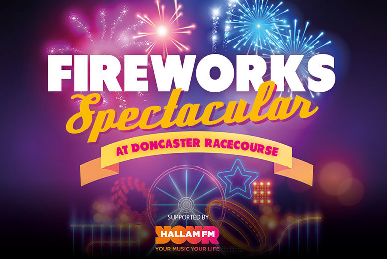 £5.50 instead of £7.50 for a family ticket to Fireworks Spectacular at Doncaster Racecourse, Leeds - save 27%