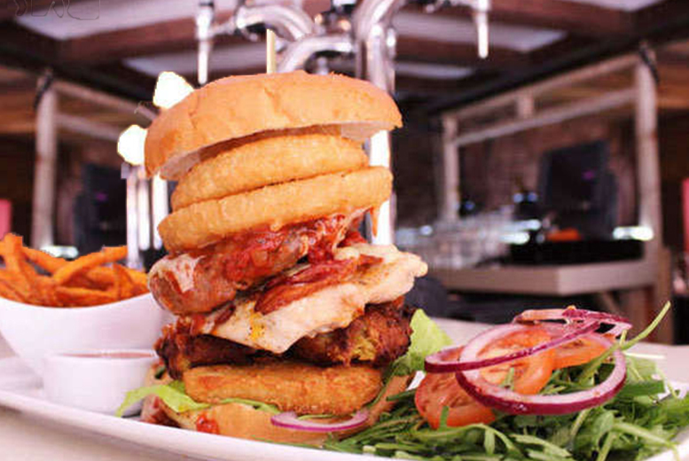 £9.99 instead of up to £27 for your choice of burger, chips, salad and beer for two at Barca Bar, Castlefield - save up to 63%