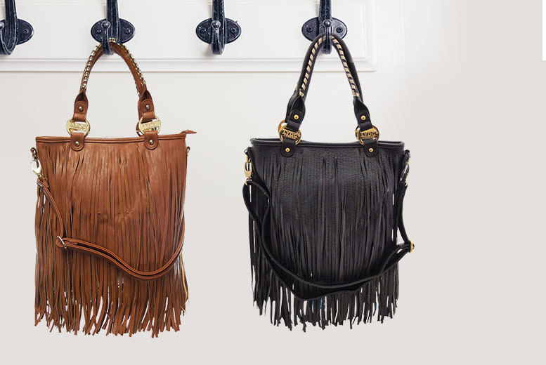 £15 instead of £29.99 (from Get the Trend) for a LYDC London faux leather tassel messenger bag - choose from black or tan and save 50%