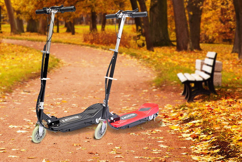 £49.99 instead of £156.99 (from Vida XL) for a 120W electric scooter - choose from two colours and save 68%