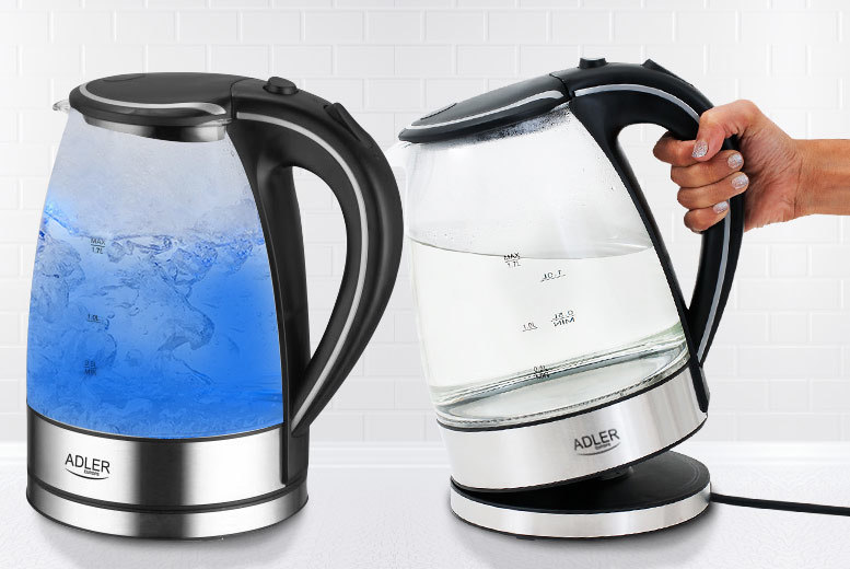 £19.99 instead of £58.50 for a clear glass LED kettle - save 66%