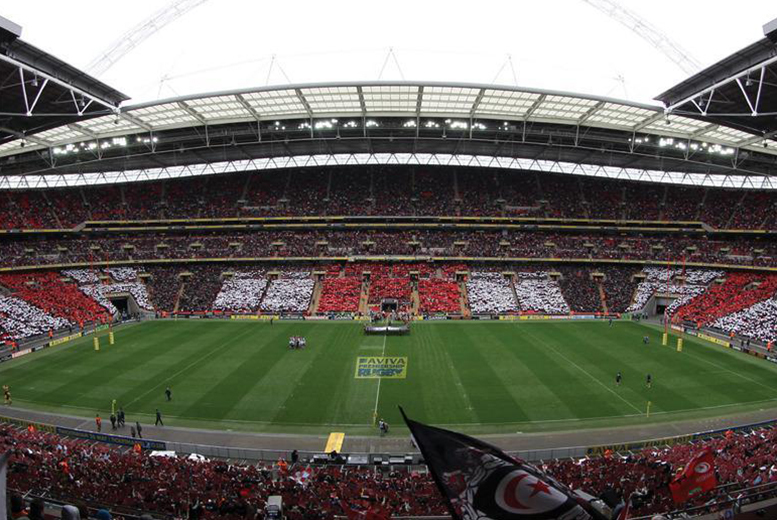 £7.50 for a child's ticket or £15 for an adult ticket to see Saracens vs. Harlequins at Wembley Stadium on 16th April 2016