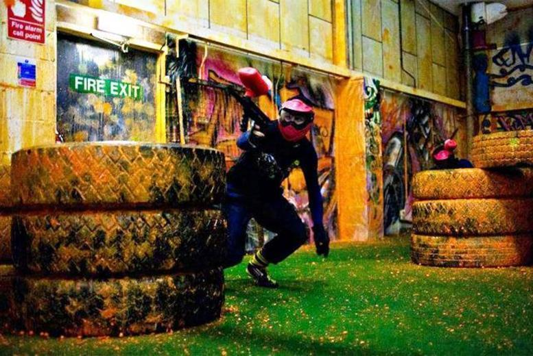 £3 for two hours of indoor paintballing for two people with 100 paintballs each, £4.50 for four people or £8 for ten people at Urban Paintball - save up to 92%