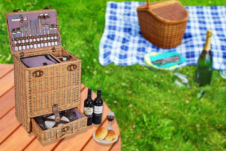 The Best Deal Guide - Luxury Picnic Hamper, or Electric Refrigerated Hamper