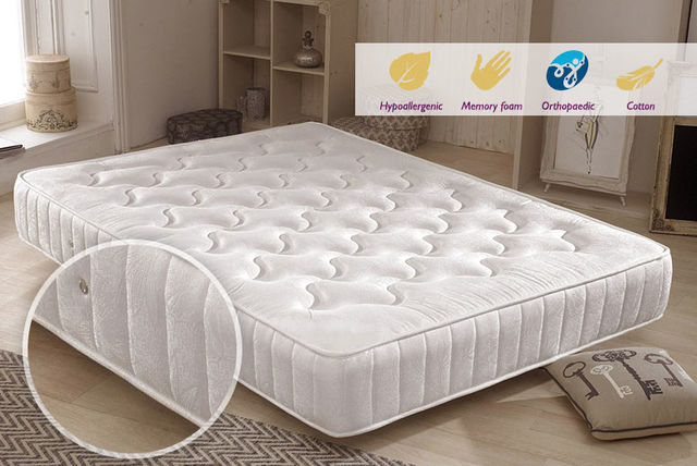 Sleep Easy Hypoallergenic Memory Sprung Mattress
