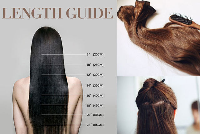 7pc 22 clip in hair extensions set 10 colours pmusecretfo Image collections