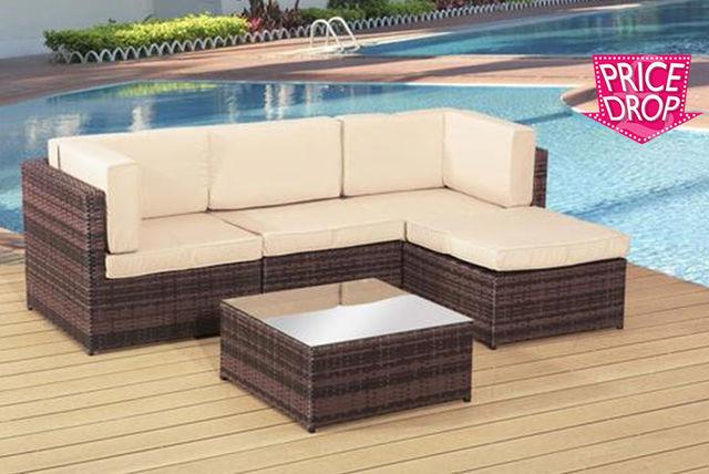 rattan garden lounge set