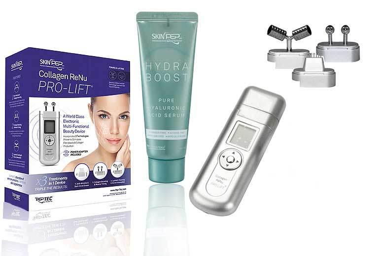 SkinPep® Collagen ReNu Pro Lift & 70ml Hydra Boost Serum from £69