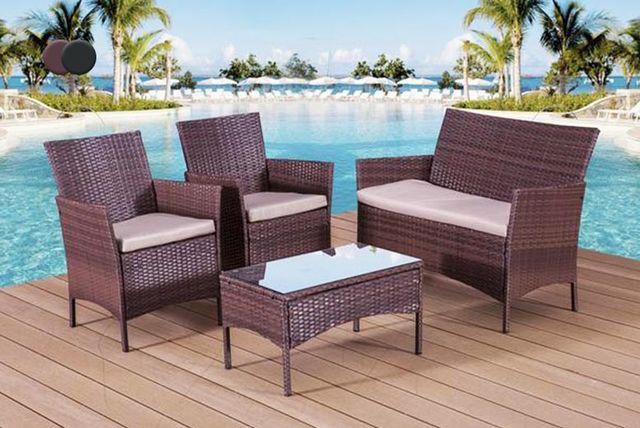 patio rattan sofa set