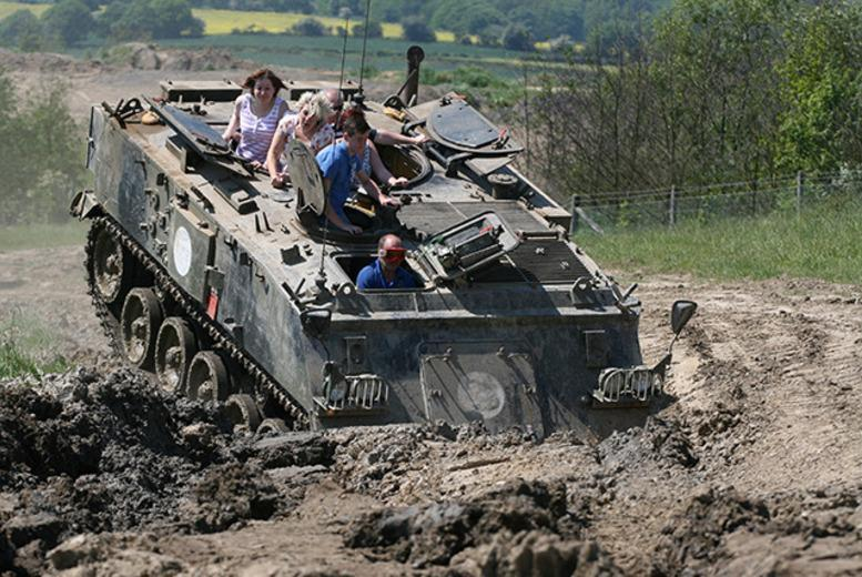 £29 for a Trio of Tracks 'tank' ride experience for one person, £55 for two or £99 for four at Tank Mania - save up to 68%