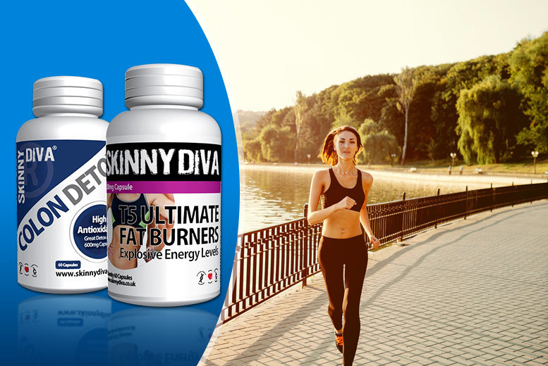 £9.99 instead of £49.99 (from Skinny Diva) for a one-month* supply of T5 and Colon Detox capsules, £14.99 for a two-month* supply - save up to 80%