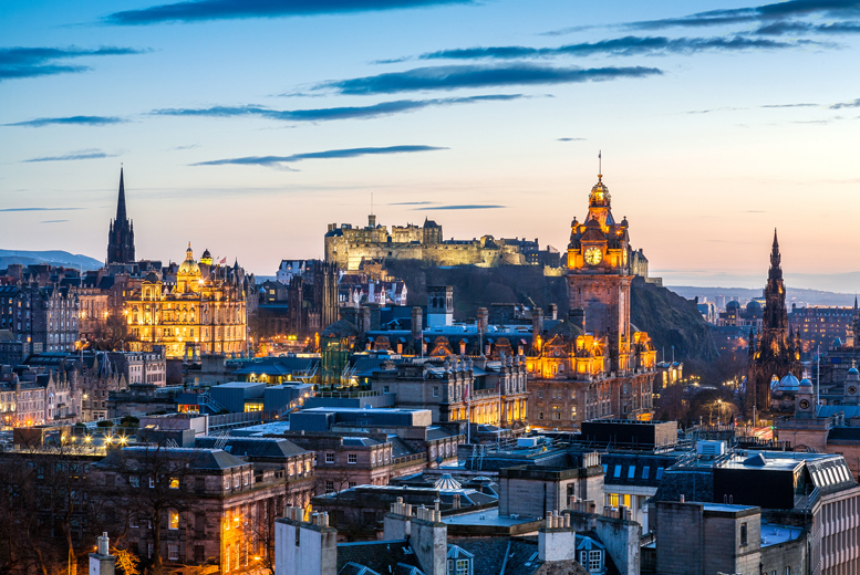 From £49 (at Twin Lions Hotel) for an Edinburgh stay for two, b'fast and wine, from £89 for two nights, £69 for three in a family room and £79 for four - save up to 61%