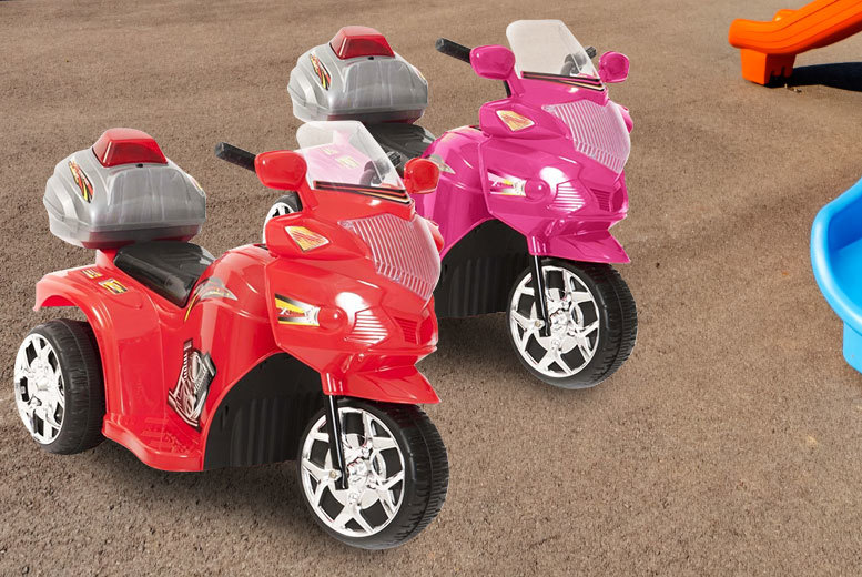 £29.99 (from eBuyer) for a kids' electric police trike in red or pink