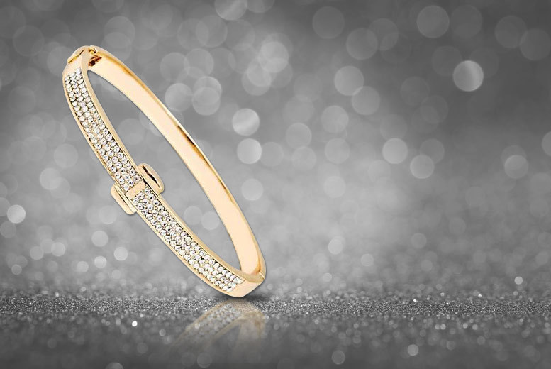 1 CTTW Golden Bangle made with Swarovski Elements