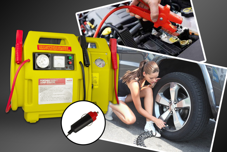£34 instead of £85 for a car emergency kit including jump start kit and cables, air compressor and work light - save 60%